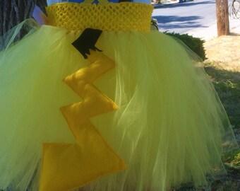Pikachu Pokemon tail and headband/ pikachu headband/ popemon tail and headband