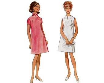A-line Dress, Size 14,  Butterick 5173, Pattern, 1960s, Sleeveless One Piece Dress, Mini Dress