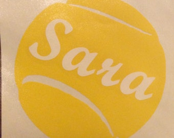 Personalized Vinyl Tennis Decal