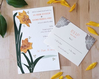 Daffodils All Asway Invitation Set