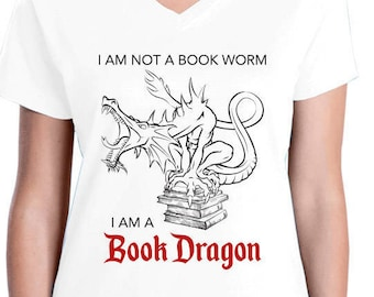 I Am Not A Book Worm I Am A Book Dragon t-shirt, reading, books