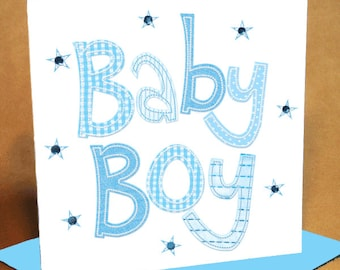 Baby Boy Card  (jewelled)