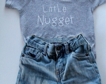 Signature Little Nugget Infant Onesie, Hip Baby Clothes, Infant Clothing, Baby Graphic Tees, Baby shower gift, Newborn Gift