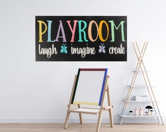 Playroom Sign / Playroom Decor / Nursery Decor / Playroom Wall Art / Playroom  Wall Decor