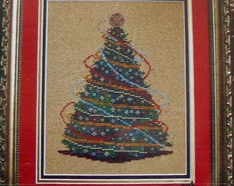 Cross Stitch Pattern | JOYOUS TIMES | Christmas Tree | Turquoise Graphics & Designs | Counted Cross Stitch Pattern | Chart