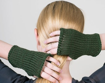 Wrist warmers, Knitted fingerless gloves, gifts for her