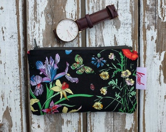 Flower Girl Gift Bridesmaid Gift Bag Wedding Gift Floral Cosmetic Bag Cute Makeup Bags Floral Zipper Pouch Floral Purse Best Friend Gift