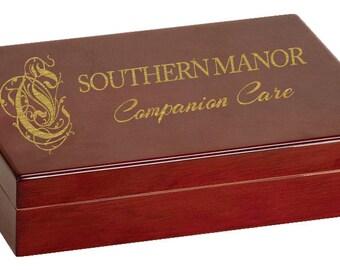 Rosewood Piano Finish Humidor with Hygrometer & Humidifier - Spanish Cedar Inside - Free Personalization - Cigar Box - Cigar Aficionado