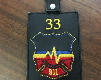 Personalized 911 Dispatcher ID Holder