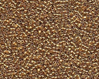 5g DB1832 Miyuki Delica Bead Duracoat Galvanised gold