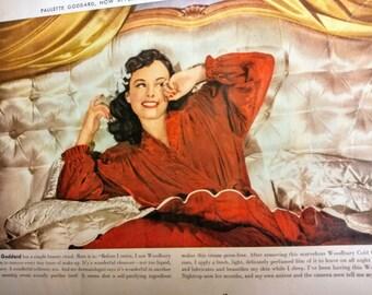 1940 Paulette Goddard - Beauty Ad