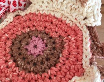 Peeking Cat Butt Coasters Springtime Colors Crocheted Coasters Cat Coasters Cotton Cat Coasters