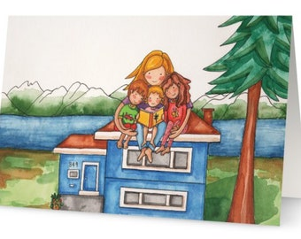 Homeschooling Greeting Card