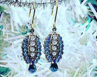 Corinna* Christmas* Italian Vintage Jewelry - Capri Blue