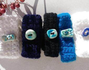 Bracelets, bangles, wool, buttons, ceramics, for her, for girls, for girls