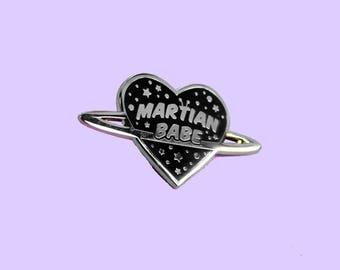 Martian Babe - Silver Hard Enamel Pin