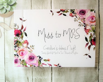 Emma Florals | Personalised Custom Made Guestbook | Wedding | Engagements | Parties | Australia Seller