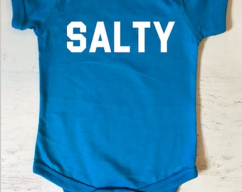 Salty Baby Bodysuit for Babies with an Attitude