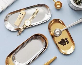 Polished Tray Gold Tray Silver Tray