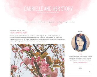 """Blogger Template, Blog Template - """"Gabrielle 