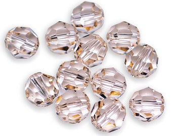 Swarovski Crystal Round Silk Beads 5000- Available in 6mm, 8mm