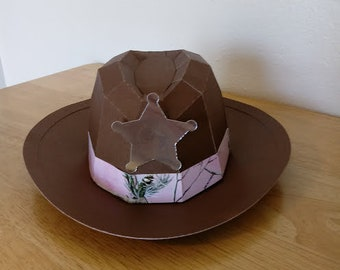 Pink Camo Cowboy Hat Gift Box, Birthday, Father's Day-Free Shppg