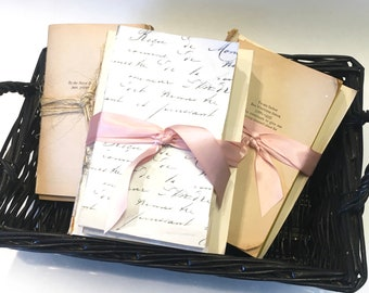 Unbound Stackable Books, Book Props, Rustic Book Wedding, Vintage Wedding Decor - (On Sale)