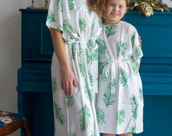 Matching Caftans - Tropical Mommy Baby Matching Kaftan dresses - Matching Outfit, Mom and Me, Matching dresses, Mini Me