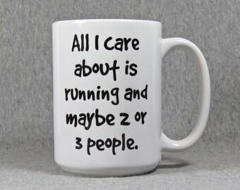 running mug, coffee mug for marathon runner, high school or college runner, gift for runner, cross country running mug, running coach gift