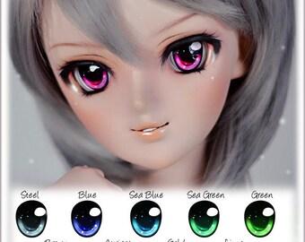 NEW COLOURS! Animetic eyes for Dollfie Dream, Smart doll , BJD ( 22-24mm ) - Stary Sky