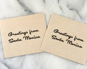 Greetings From Santa Monica, set of 4 cards with envelopes