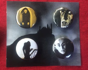 "Nosferatu 1.25"" Pin Set"