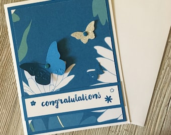 Congratulations Cards - Wedding Cards - Butterfly Cards / Handmade Greeting Cards - Stampin Up Greeting Cards - Personalized Greeting Cards