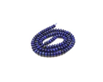 Abacus beads in Lapis Lazuli natural 5 x 3mm LBP00457 10