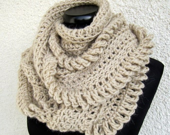 Crochet Scarf PATTERN, Chunky Scarf Pattern, Infinity Scarf, DIY Crafts, Unique Scarf, Instant Download, PDF Pattern #149, Lyubava Crochet