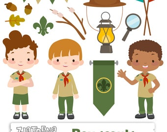 Boy Scout Clipart Clip Art Camping Digital Kids Printable Explorer Boys Scouts Troop