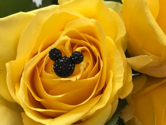 Disney Inspired Bouquet Pins-Boutonnieres-Classic Black Mickey Mouse Centerpieces-Wedding Corsage (Qty 12)