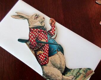 vintage blank card - Alice In Wonderland, The White Rabbit
