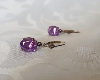 Sterling Silver Amethyst Earrings, Sterling Silver Purple Stone Earrings, Purple Earrings, Amethyst Earrings, Earrings