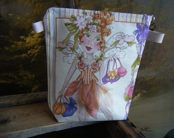 Fairy Zipper Pouch with Key Zipper Pull