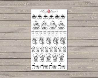 Caffeinated Addie Planner Stickers
