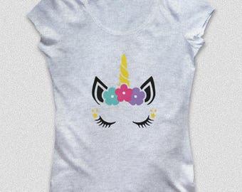 T-shirt Women's Unicorn, color gray