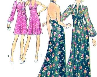 70s Halter dress halter evening dress grad dress vintage sewing pattern Simplicity 5561 Bust 36 UNCUT