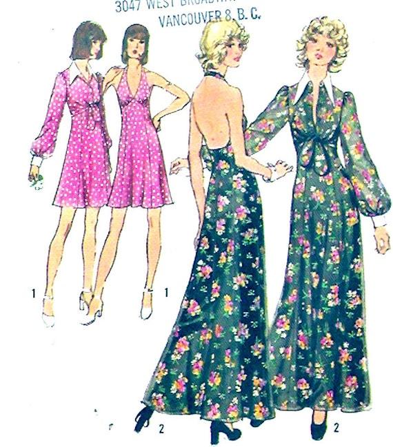 70er jahre kleid nähen