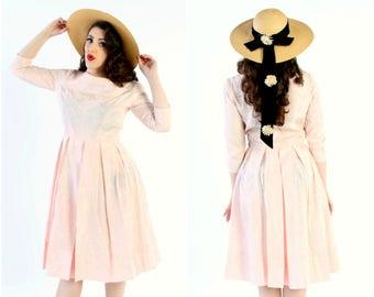 Pink 1950s Taffeta Daydress