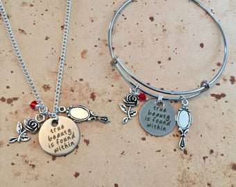 True beauty is found within - Charm Necklace, Bangle or Keyring