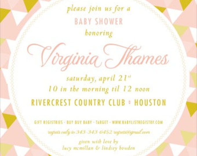 Vintage Geometric | Baby Shower Invitation