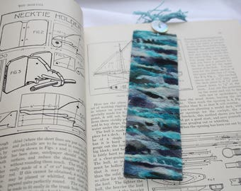 Bookmark-Felted Turquoise