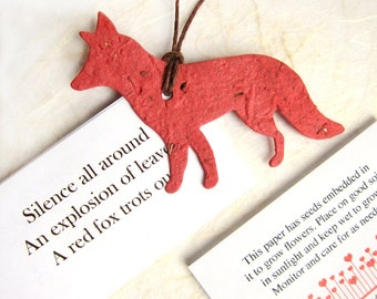 20 Plantable Flower Seed Paper Foxes - Woodland Wedding Favors