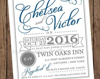 Couples Shower Wedding Shower Bridal Shower Invitations - 1.00 each with envelope
